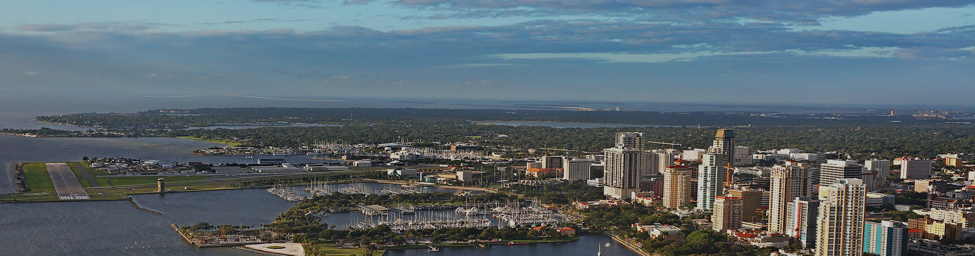 Aerial view of St. Petersburg Florida.